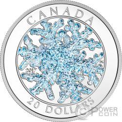 SNOWFLAKE Ice Crystal Moneda Plata 20$ Canada 2017