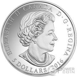 BIRTHSTONES OCTOBER Ottobre Gemma Swarovski Moneta Argento 5$ Canada 2016