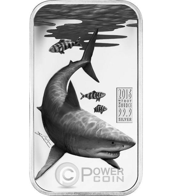 GREAT WHITE SHARK Australian Apex Predators 1 Oz Silber Münze 1$ Cook Islands 2016
