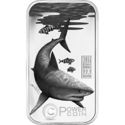 GREAT WHITE SHARK Australian Apex Predators 1 Oz Moneda Plata 1$ Cook Islands 2016