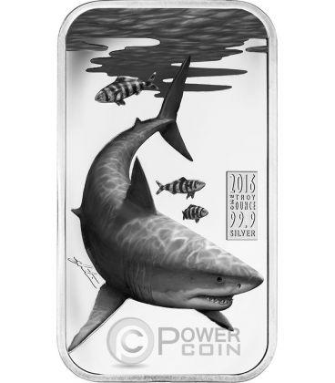 GREAT WHITE SHARK Australian Apex Predators 1 Oz Silver Coin 1$ Cook Islands 2016