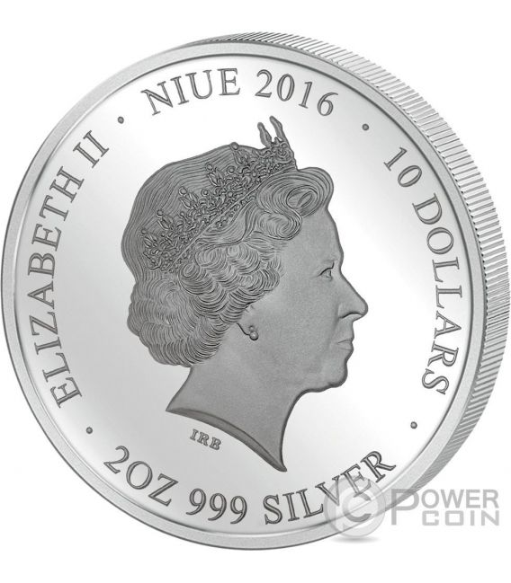 DONI TONDO MICHELANGELO Perfection in Art 2 Oz Moneda Plata 10$ Niue 2016