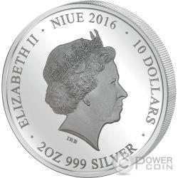 DONI TONDO MICHELANGELO Perfection in Art 2 Oz Silver Coin 10$ Niue 2016