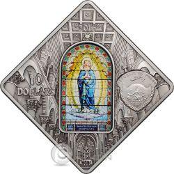 PISA CATHEDRAL Leaning Tower Holy Windows Серебро Монета 10$ Палау 2016