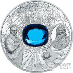 HOPE DIAMOND Most Famous Diamonds 2 Oz Silver Coin 10$ Cook Islands 2016