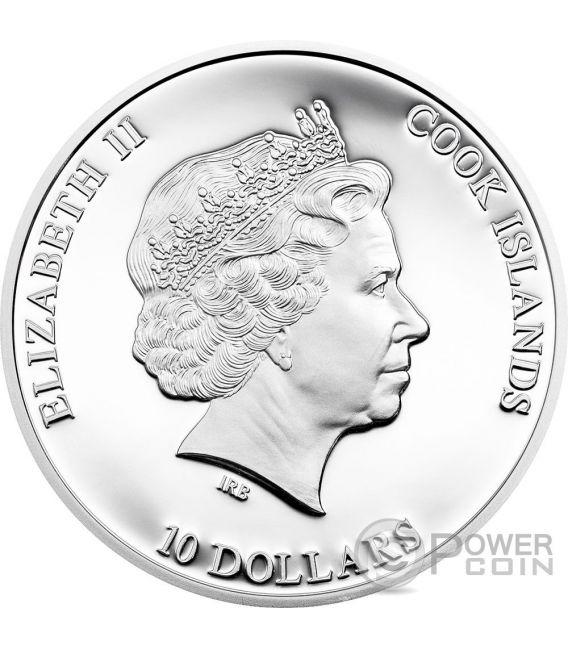 HOPE DIAMOND Most Famous Diamonds 2 Oz Silber Münze 10$ Cook Islands 2016
