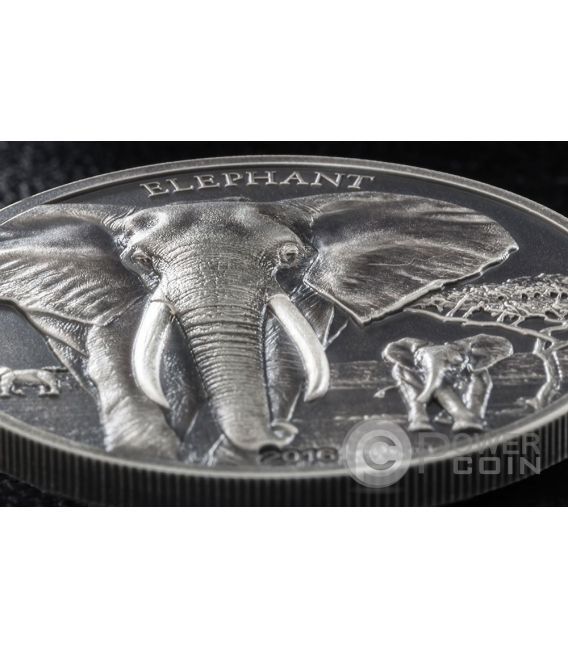 ELEPHANT High Relief Animals 1 Oz Silber Münze 1000 Shillings Tanzania 2016