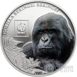 MOUNTAIN GORILLA Beringei WWF World Wildlife Fund Moneta 100 Shillings Tanzania 2016