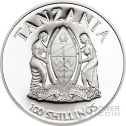 MOUNTAIN GORILLA WWF World Wildlife Fund Coin 100 Shillings Tanzania 2016