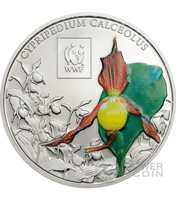 LADY SLIPPER ORCHID WWF World Wildlife Fund Coin 100 Shillings Tanzania 2016