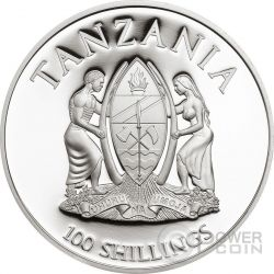 LADY SLIPPER ORCHID Cypripedium WWF World Wildlife Fund Moneta 100 Shillings Tanzania 2016
