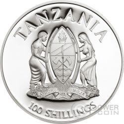 LADY SLIPPER ORCHID WWF World Wildlife Fund Moneda 100 Shillings Tanzania 2016