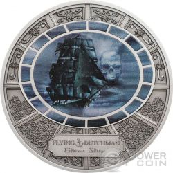 FLYING DUTCHMAN Ghost Ship Nave Fantasma Moneta Argento 5$ Cook Islands 2016