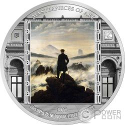 WANDERER ABOVE THE SEA OF FOG Caspar David Friedrich Masterpieces of Art 3 Oz Silver Coin 20$ Cook Islands 2016