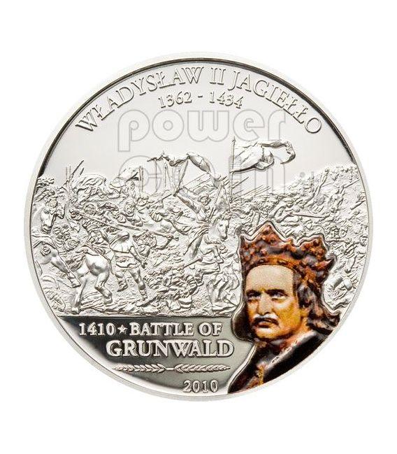 GRUNWALD Great Battles Commanders Silber Münze 5$ Cook Islands 2010