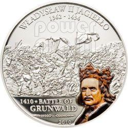 GRUNWALD Great Battles Commanders Silver Coin 5$ Cook Islands 2010