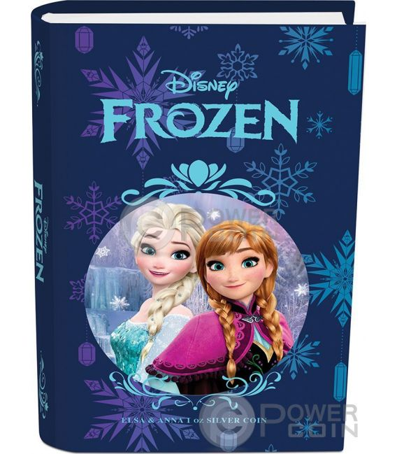 ELSA AND ANNA Disney Frozen Magic of the Northern Lights 1 Oz Silver Coin 2$ Niue 2016