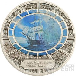 MARY CELESTE Ghost Ship Nave Fantasma Moneta Argento 1$ Niue 2013