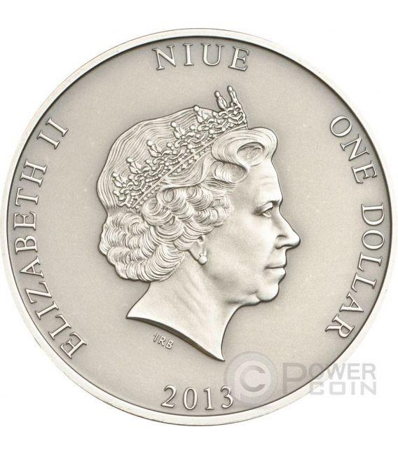 MARY CELESTE Ghost Ship Silver Coin 1$ Niue 2013