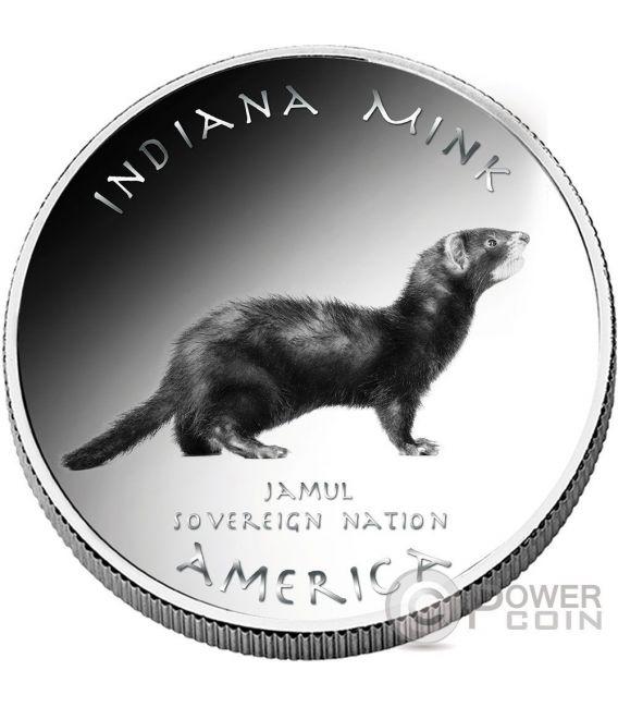 MINK Miami Indiana Riserva Indiana 1 Oz Moneta Argento 1$ Jamul 2016