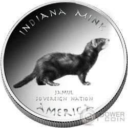 MINK Miami Indians Indiana Native State 1 Oz Silver Coin 1$ Jamul 2016