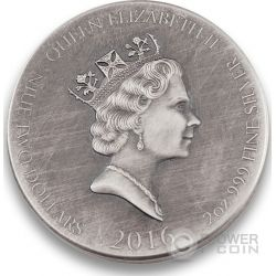 HARALD FAIRHAIR King Of Norway Vikings Gods Kings Warriors 2 Oz Серебро Монета 2$ Ниуэ 2016