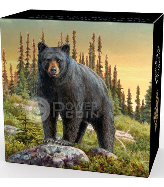 Bold Black Bear Majestic Animal Silver Coin 20 Canada