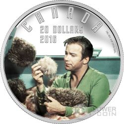 TROUBLE WITH TRIBBLES Triboli Animaletti Pericolosi Star Trek Moneta Argento 20$ Canada 2016