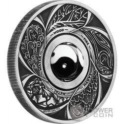 ROTATING CHARM Yin Yang 1 Oz Silver Coin 1$ Tuvalu 2016