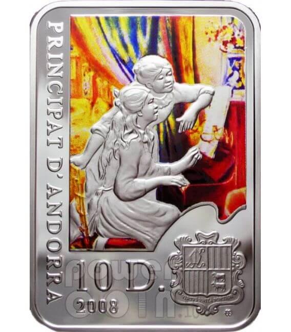 RENOIR Pierre Auguste Серебро Монета 10D Андора 2008