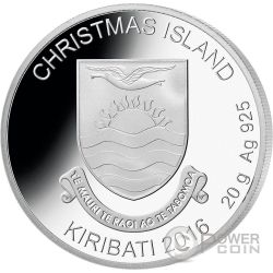 RUDOLPH Red Nosed Reindeer Christmas Moneda Plata 1$ Kiribati 2016