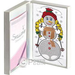 SNOWMAN Heart Melting 3 Монета Set Christmas Серебро Proof Монета 2$ 5$ 10$ Кирибати 2016