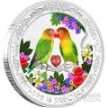 LOVEBIRDS Love Is Precious 1 Oz Silver Coin 2$ Niue 2017