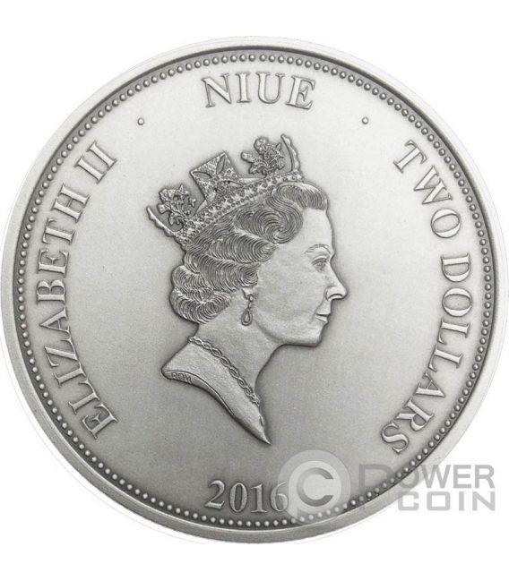 NARCISSUS Greek Myth Mirror 1 Oz Silver Coin 2$ Niue 2016