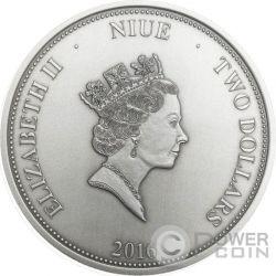NARCISSUS Greek Myth Mirror 1 Oz Silber Münze 2$ Niue 2016