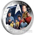 U.S.S. ENTERPRISE NCC-1701 CREW STAR TREK Original Series 50th Anniversary 2 Oz Silver Coin 2$ Tuvalu 2016