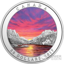 FIERY SKY Cielo di Fuoco Weather Phenomenon Moneta Argento 20$ Canada 2017