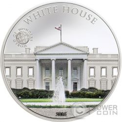 WHITE HOUSE Casa Bianca World of Wonders Moneta Argento 5$ Palau 2016