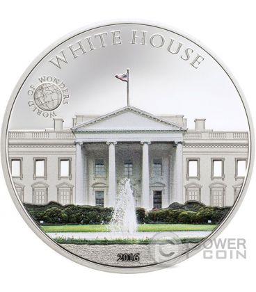 WHITE HOUSE Casa Bianca World of Wonders Moneta Argento 5$ Palau 2016