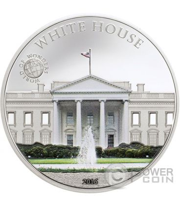 WHITE HOUSE World of Wonders Silver Coin 5$ Palau 2016