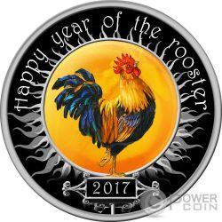 ROOSTER Wind Spinner Lunar Year Moneda Plata 100 Denars Macedonia 2017
