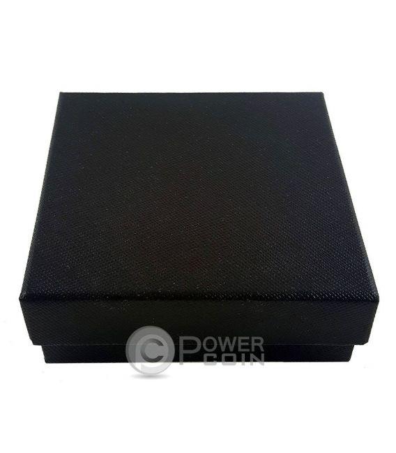 COFANETTO LUXURY NERO Scatola Legno Moneta Medaglia Black Coin Case Box 45 mm