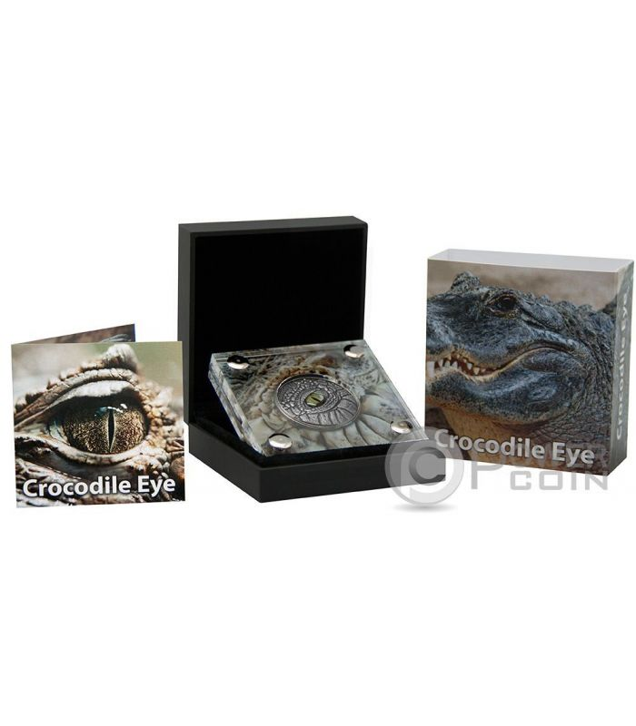 Crocodile Eye Real Effect 1 Oz Silver Coin 1000 Francs