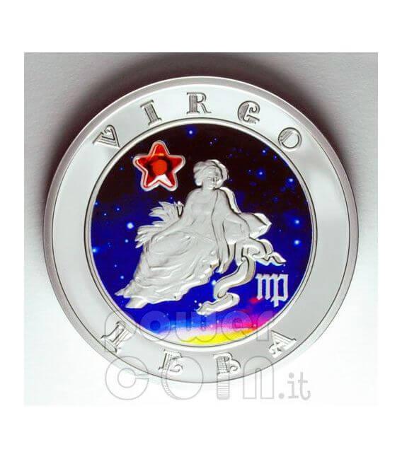VIRGO Horoscope Zodiac Zircon Silber Münze Armenia 2008