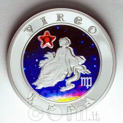 VERGINE Oroscopo Zodiaco Zircone Moneta Argento Armenia 2008