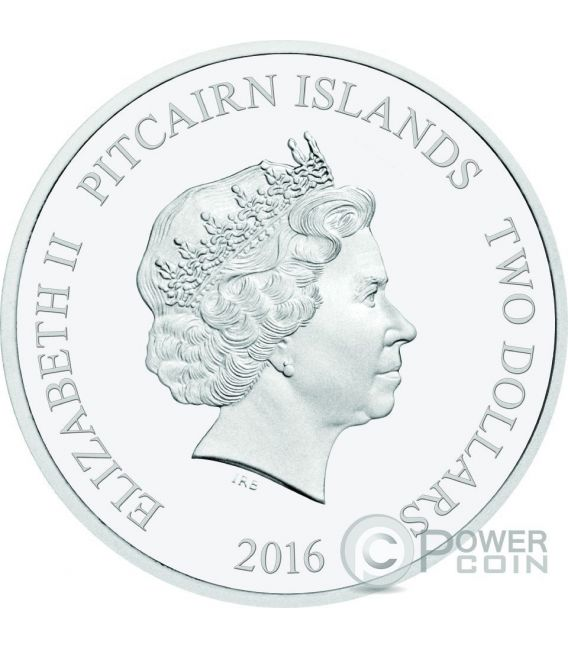 FIN WHALE Balenottera Comune Balena Whales of the Southern Ocean 1 Oz Moneta Argento 2$ Pitcairn Islands 2016