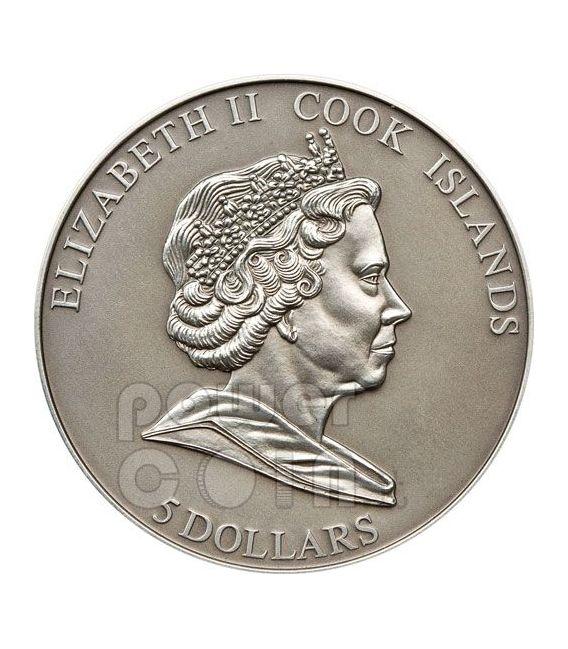 OBAMA KING Dreams Can Came True 2 Moneda Plata Set 5$ Cook Islands 2010