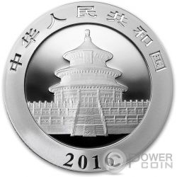 CHINESE PANDA Flag Moneda Plata 10 Yuan China 2016