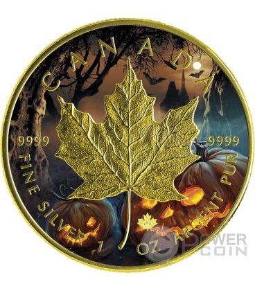 HALLOWEEN MAPLE LEAF 1 Oz Silver Coin 5$ Canada 2016