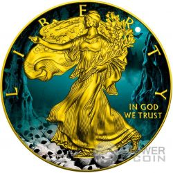 HALLOWEEN Walking Liberty 1 Oz Moneta Argento 1$ US Mint 2016